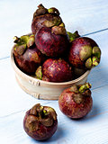 Arrangement of Fresh Mangosteen