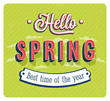 Hello spring typographic design.