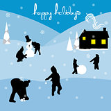 merry christmas happy holidays landscape 2