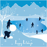 merry christmas happy holidays landscape 3
