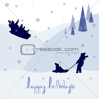 merry christmas happy holidays landscape