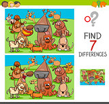 find differences game with dog characters