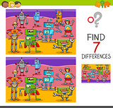 find differences game with robot characters