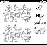 find differences with robots color book