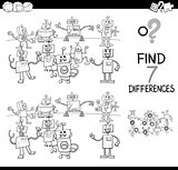 differences game with robots color book