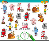 one of a kind game with cartoon characters