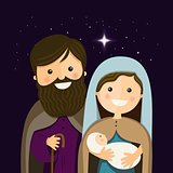 Christmas Eve with Holy Familly