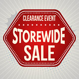 Storewide sale typographic design template