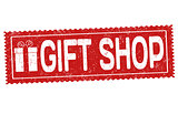 Gift shop grunge rubber stamp