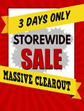 Storewide sale typographic design template