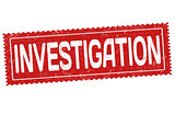 Investigation grunge rubber stamp