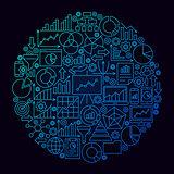 Business Analytics Line Circle Concept
