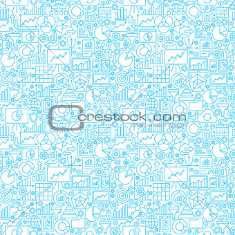 Analytics White Seamless Pattern