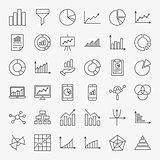 Graph Chart Line Icons