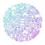 Data Filter Line Circle Design