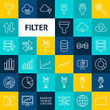 Vector Line Filter Icons