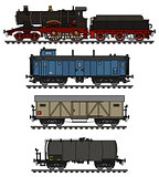 Vintage freight steam train