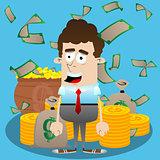 Businessman with money.