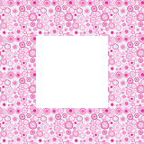 Pink frame with doodle circles