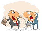 Two arguing businessman