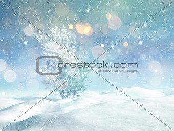 3D Christmas tree landscape