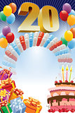 Poster for twentieth birthday