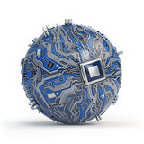 Circuit board system chip with core processor. Spherical compute
