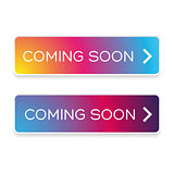Coming soon button colorful