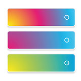 Empty web button set colorful