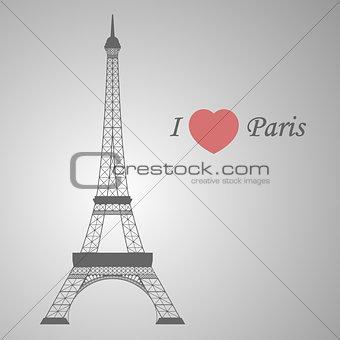 Grey Eiffel tower