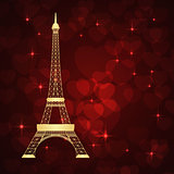 eiffel tower and hearts