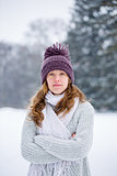Winter portrait of young woman