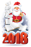 Santa Claus and books 2018