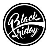 Round label Black Friday