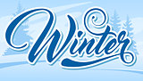 Inscription Winter. Winter design element