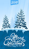 Invitation card Merry Christmas