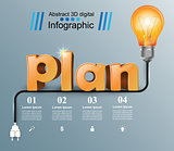 Plan 3d business infographics.