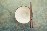 Empty ceramic soup plate