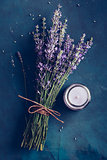 Fresh bundle of lavender and