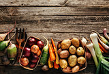 Various vegetables and root crops