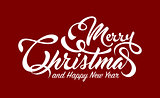 White text Marry Christmas and Happy New Year