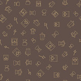 Coffee brown seamless pattern.