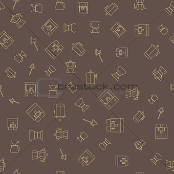 Coffee brown seamless pattern.