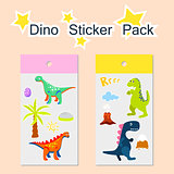 Dino sticker pack vector illustration.