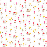 Small flowers line floral romantic pattern seamless vector.