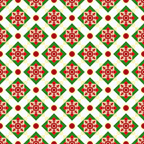 Christmas geometric nordic seamless vector pattern.