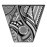 Polynesian tattoo style sleeve vector design.
