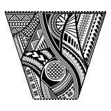 Polynesian tattoo style sleeve vector design.