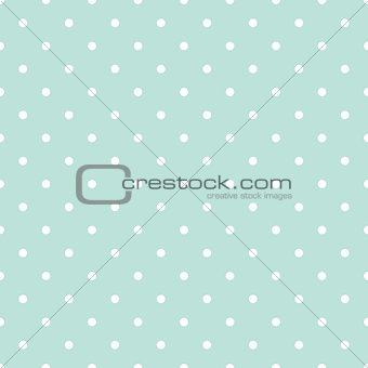 Blue and white polka dot baby seamless vector pattern.