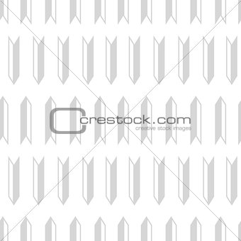 Light gray geometric arrows seamless pattern design.